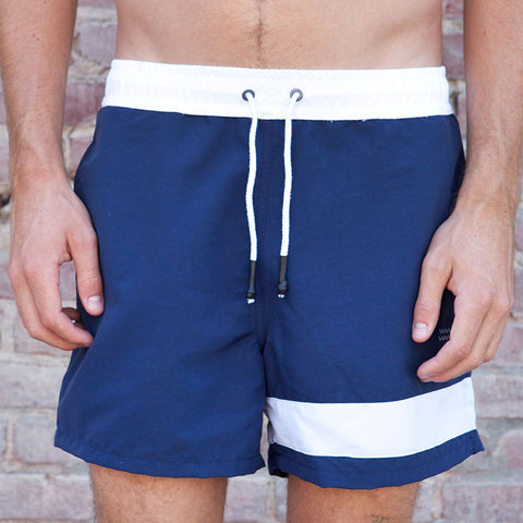 Ours Retro Swim Short Elastic Waist