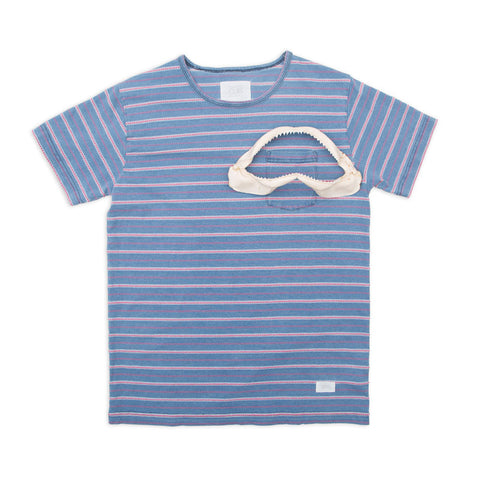 Ours Retro Surf Indigo Pocket Tee