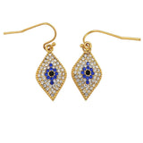 Halcyon Days Evil Eye Pave Earring