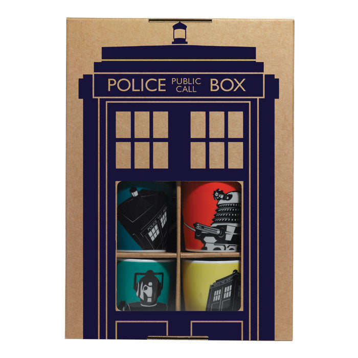 Dr. Who Ceramic Espresso cups (set of 4)