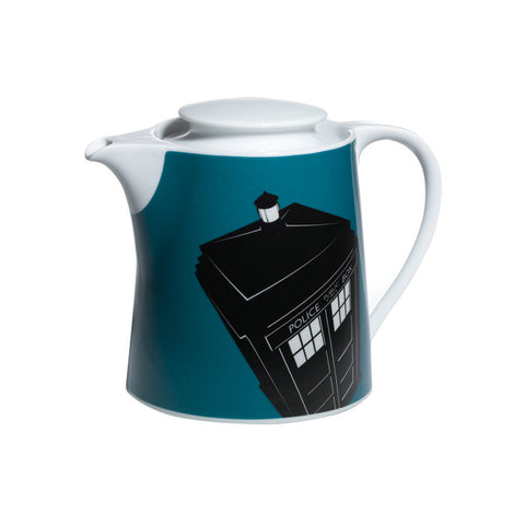 "Dr. Who ""Blue Tardis"" Ceramic pot (6 cup)"
