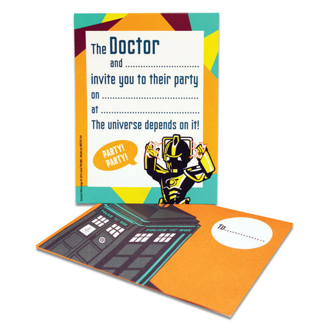 Dr. Who Party Invitations (6pk)