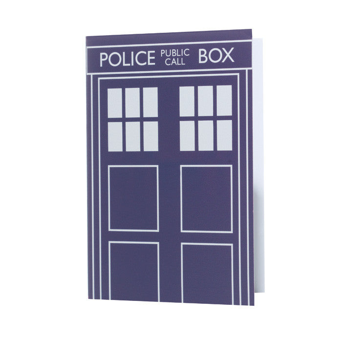 "Dr. Who ""Tardis"" card"