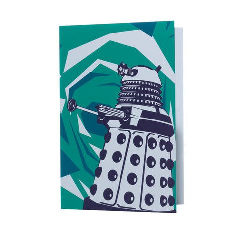 "Dr. Who ""Dalek"" card (green)"
