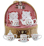 Delton Products Cherry Tea Set For Two in Basket