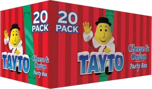 Crisps Tayto Cheese and Onion Party Pack 20case