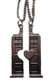 his and hers lovers tardis pendant