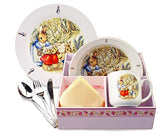 Beatrix Potter Peter Rabbit Breakfast Set Basket