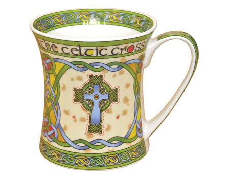 Celtic Cross Irish Weave Mug