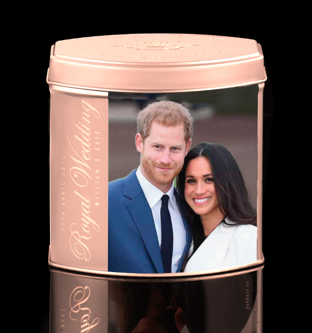 ROYAL ENGAGEMENT  ENGLISH BREAKFAST TEA IN COMMEMORATIVE CADDY