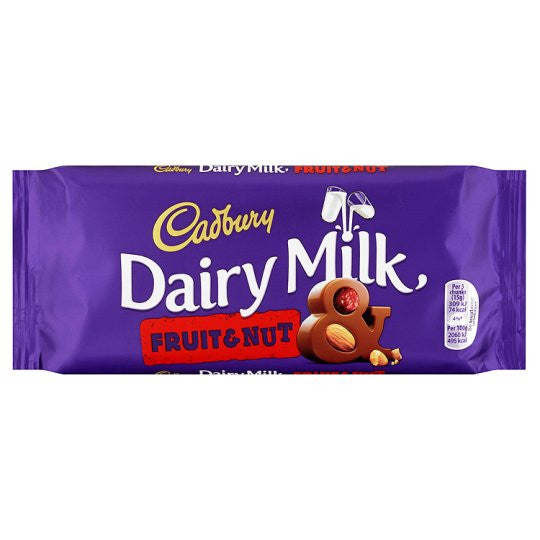 Cadbury Dairy Milk Fruit N' Nut 110g