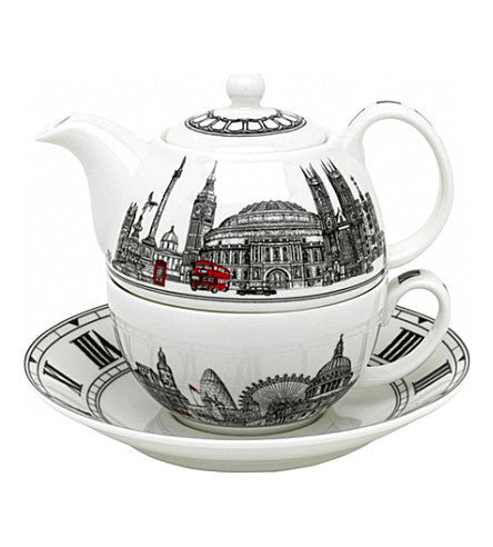 Halcyon Days Tea for One - London Icons Teapot