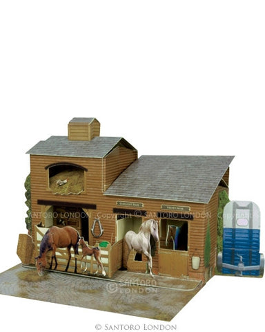 THE STABLES POP UP CARD
