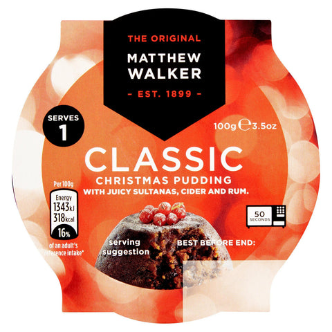 Christmas Pudding Matthew Walker Classic  100g
