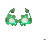 Shamrock Light-up Glasses