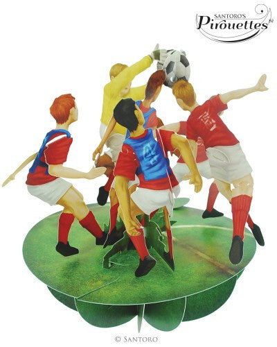 SOCCER 3D POP UP SPINNING CARD