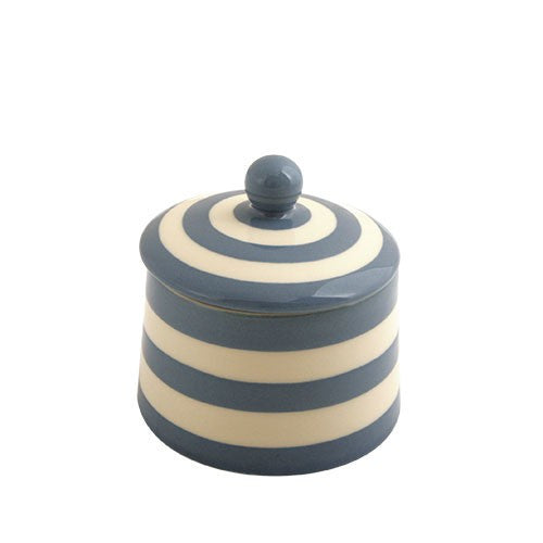 Sugar bowl - Delph Blue stripe