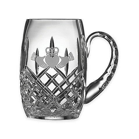 Belleek Claddagh Crystal Tankard