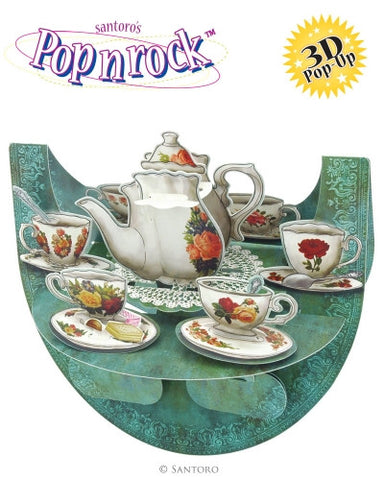 3D POP N ROCK TEA PARTY CARD