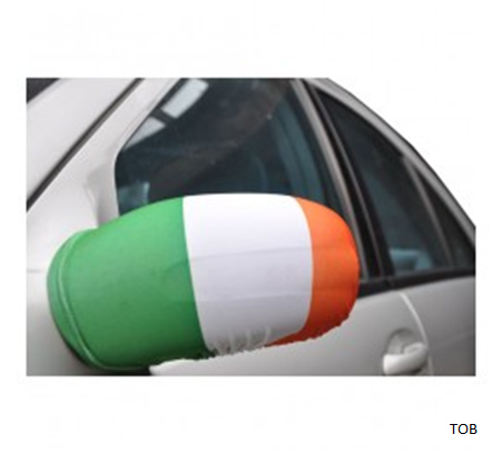 Irish Flag side view mirror covers