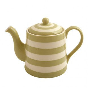 Teapot - Kitchen Stripe Apple Green