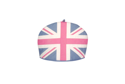 Tea Cozy - Pink & blue Union Jack