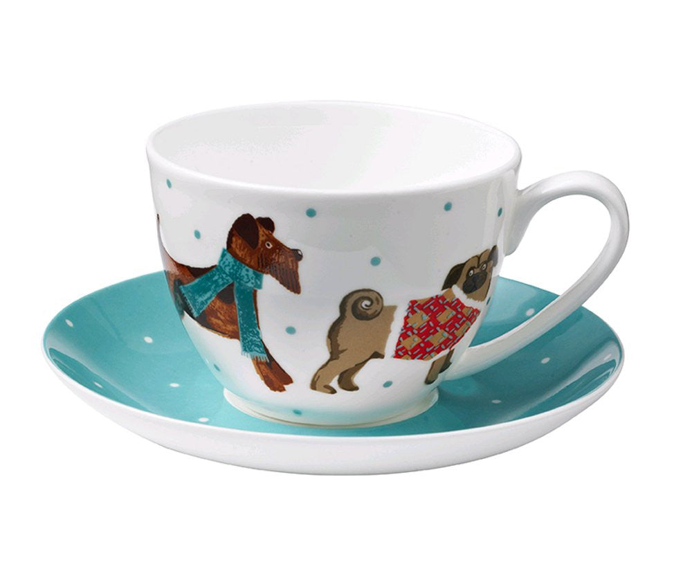 Ulster Weaver Hound Dog Tea Cup and Saucer