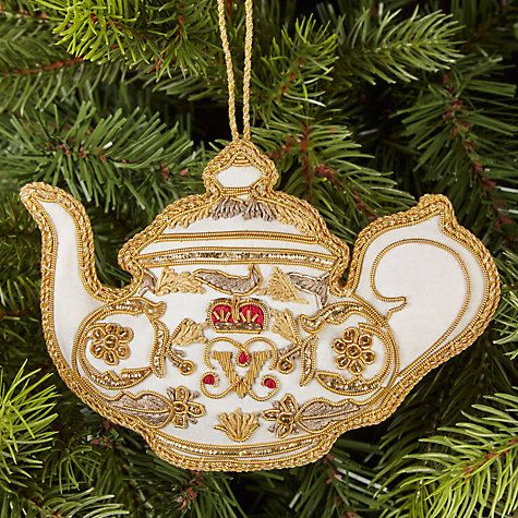 Decoration - White Teapot Decoration