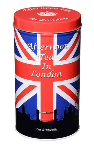 Tea Tin - Afternoon Tea 50g includes English Butter Biscuits