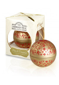 Ahmad Tea Pear & Cinnamon Tea Bauble Gold