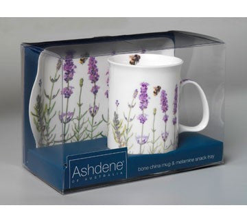 "Ashdene ""Laavender"" Mug and Tray Set."