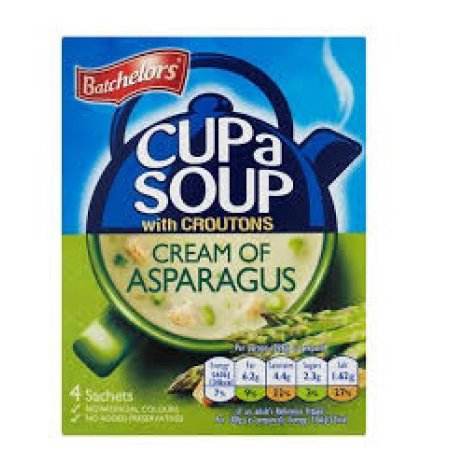 "Batchelors Cup a Soup ""Cream of Asparagus"" (4)"