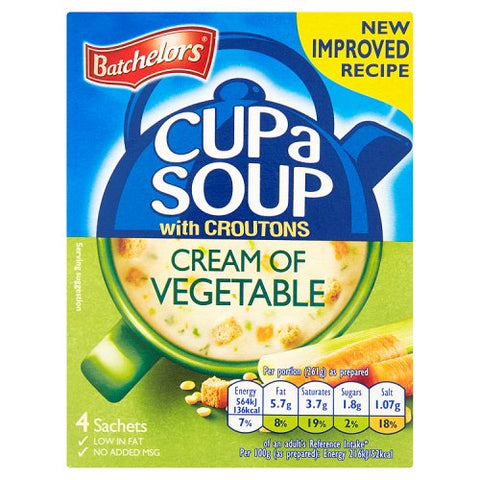 "Batchelors Cup a Soup ""Cream of Vegetable"" (4)"
