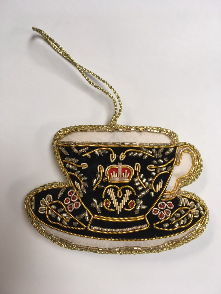 Decoration Black Teacup