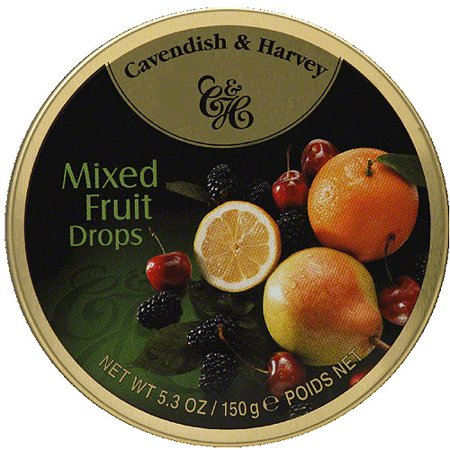 Cavendish & Harvey Mixed Fruit Drops 150g Tin