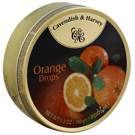 Cavendish & Harvey Orange Drops 150g Tin