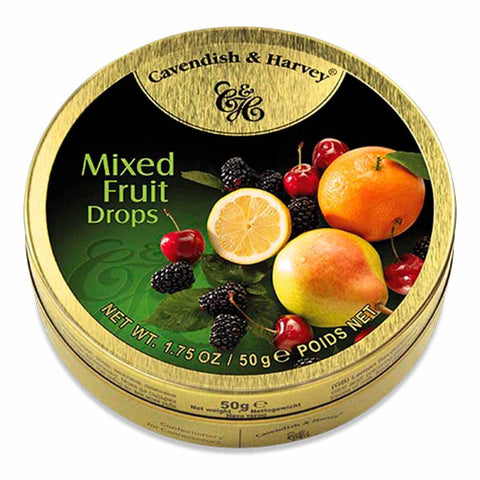 Cavendish & Harvey Mixed Fruit Drops 50g Tin