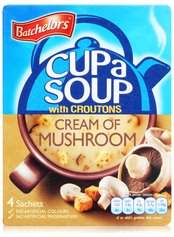 "Batchelors Cup a Soup ""Cream of Mushroom"" (4)"