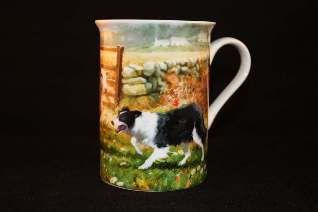 Collie & Sheep Mug & Coaster set
