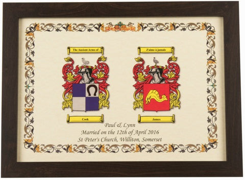 Hall of Names Double Coat of Arms (Without Frame)