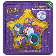 Cadburys 14 Mixed Tree Decorations with Oreo