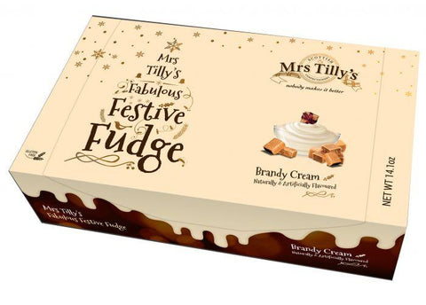 Mrs Tilly's Brandy Cream Festive Fudge 400g