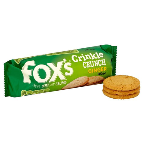Fox's Crinkle Crunch Ginger Biscuit 200g