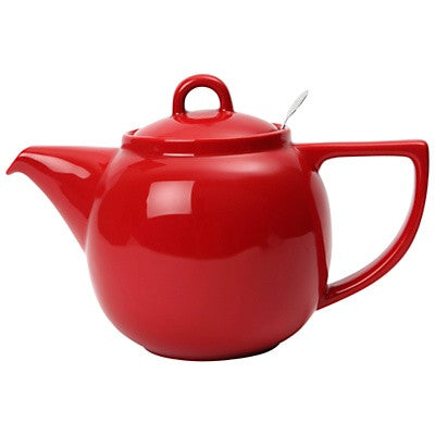 The London Pottery Co. Red-Geo Teapot with Filter (4 cup)