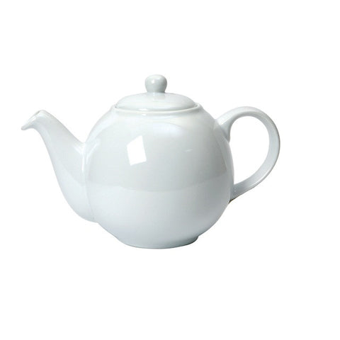 The London Pottery Co. White-Globe Teapot (6 cup)