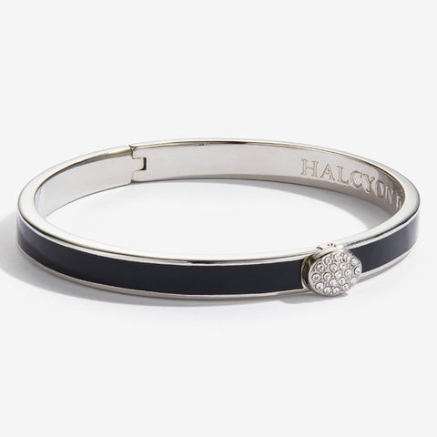 Halcyon Days Skinny Black and Palladium Bangle