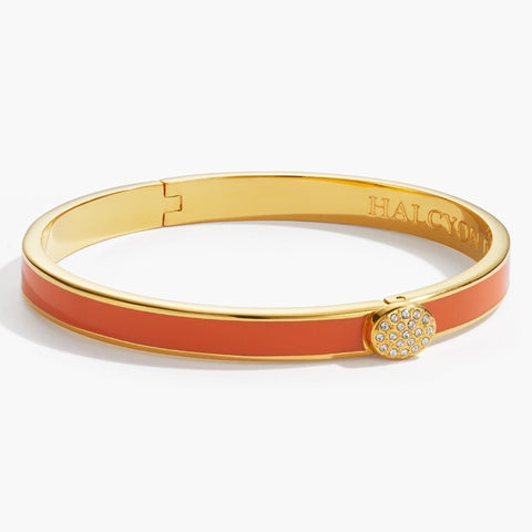 Halcyon Days Skinny Orange and Gold Bangle