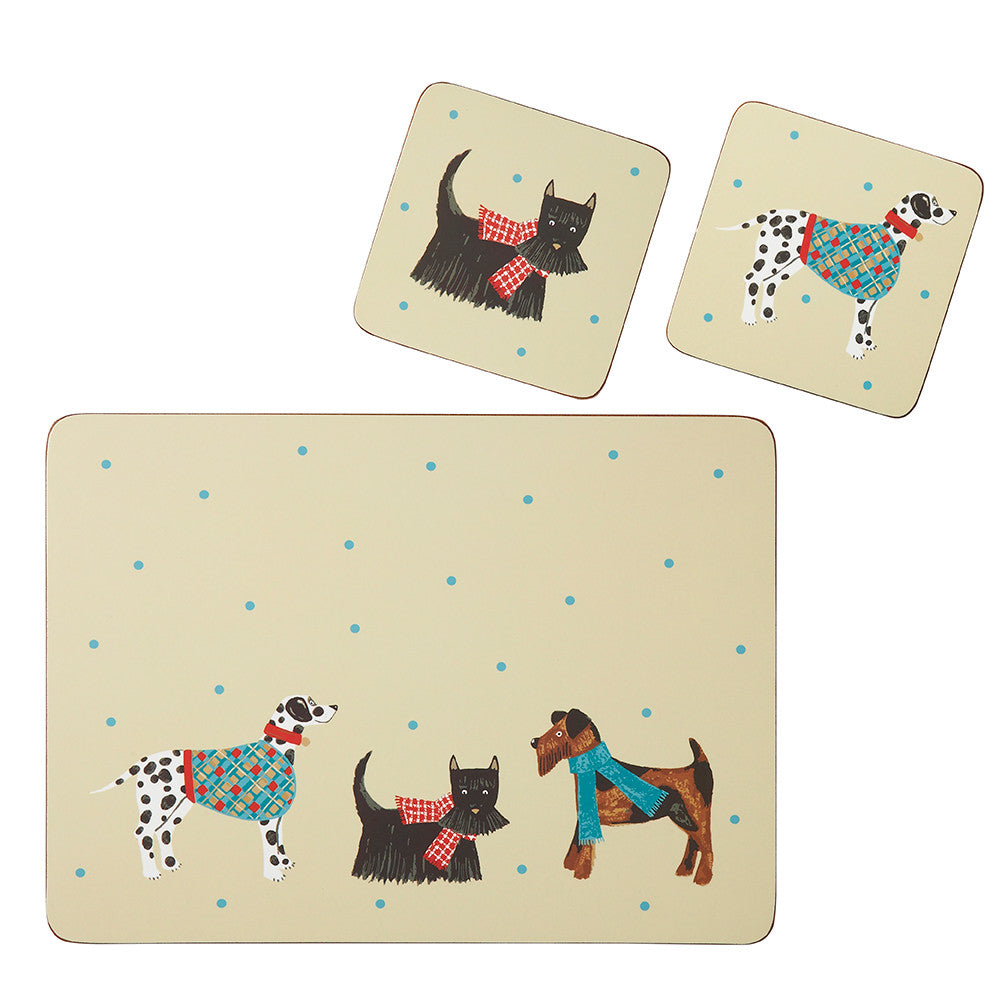 Ulster Weaver Hound Dog Coasters