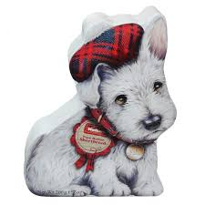 Walkers White Mini Scottie Shortbread Tin  200g