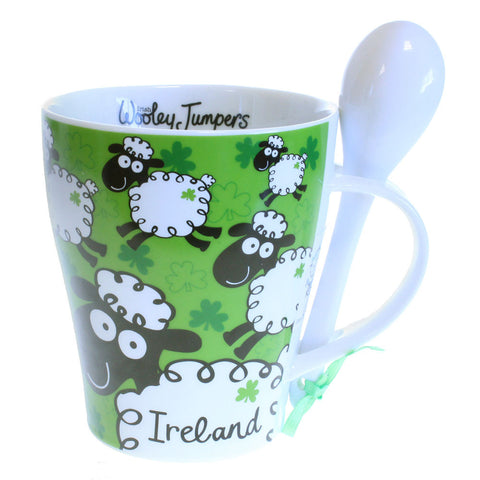 Irish Wacky Woolies Mug & Spoon Set
